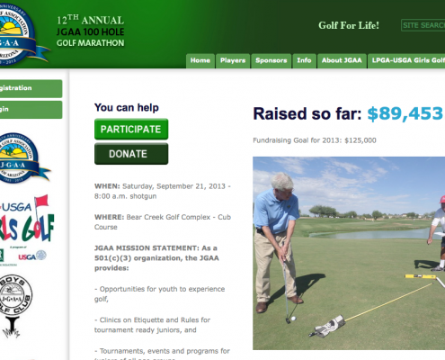 junior golf fundraising site
